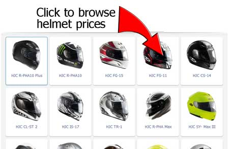 HJC motorcycle crash helmets