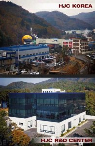 HJC Manufacturing site in Korea and lower is the R&D centre