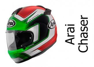 Arai Chaser V Giugliano crash helmet.