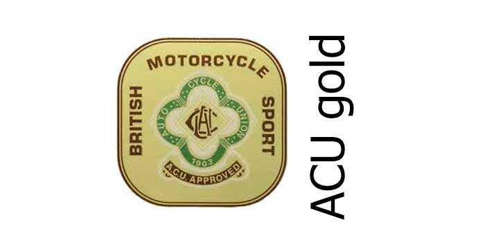 auto cycle union acu gold sticker