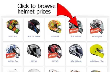 AGV crash helmet range