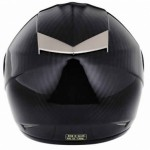HQ-1 Carbon crash helmet rear view