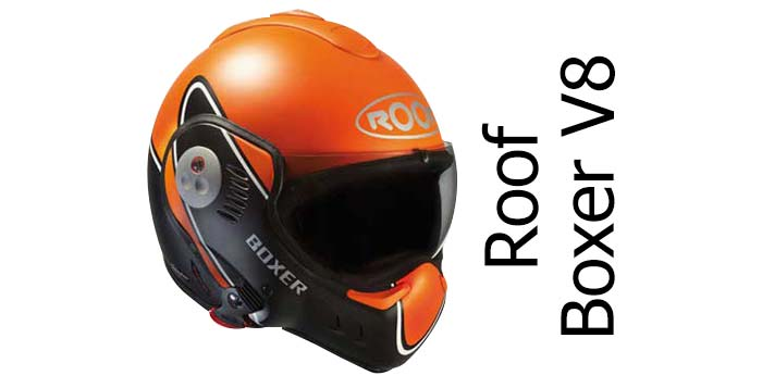 Roof boxer v8 crash helmet