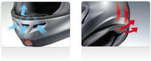 shoei multitec helmet ventiation