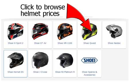 shoei crash helmets