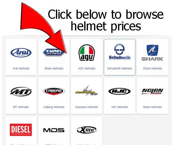 view all crash helmet prices