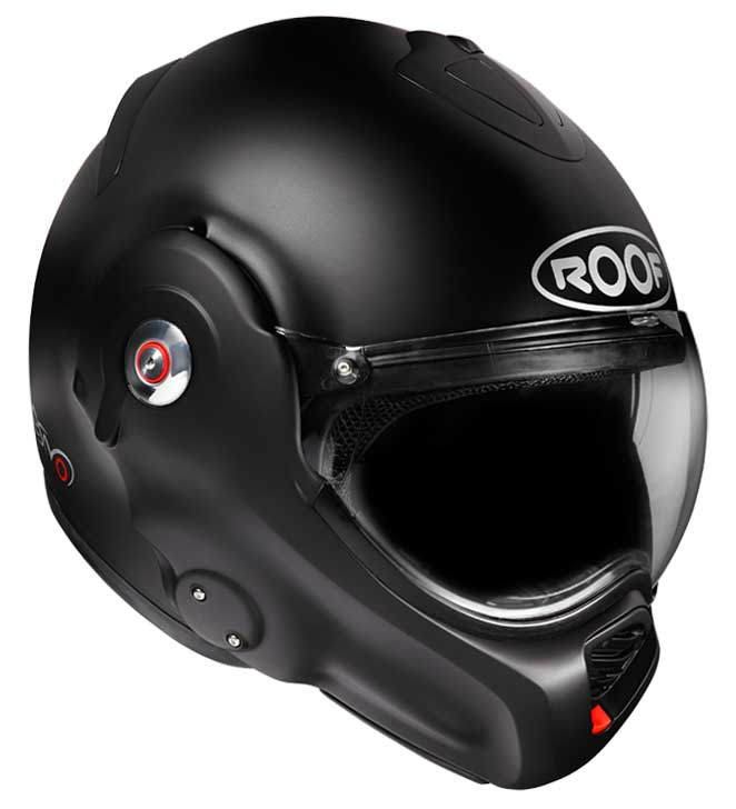 Roof Desmo crash helmet in matt black photo