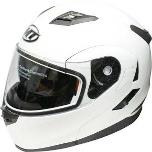 MT Flux crash helmet in gloss white