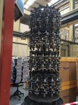 Stack of Triumph crankshafts at the factory