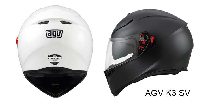 AGV K3 SV in gloss white and matt black