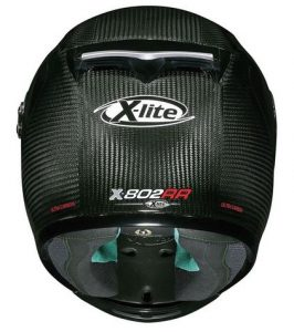 x-lite x-802rr ultra-carbon-crash helmet rear view