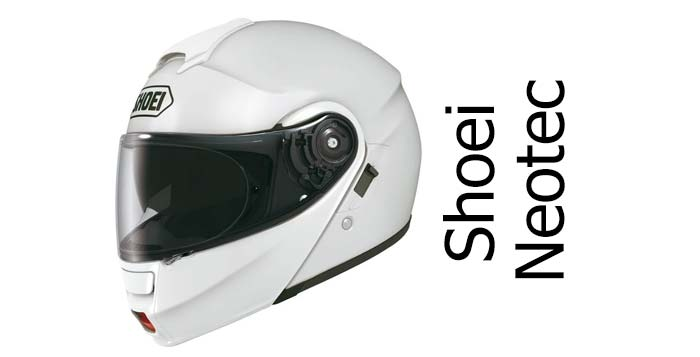 Shoei Neotec crash helmet in white