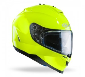 hjc IS-17 fluorescent green crash helmet