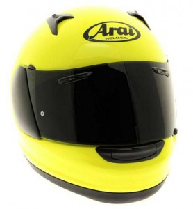 Arai Quantum ST in fluorescent yellow