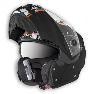 caberg duke commander crash helmet open