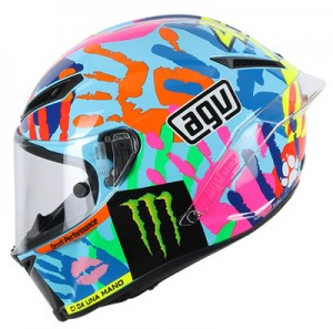 AGV Corsa crash helmet Rossi Misano side view
