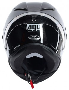 AGV Corsa crash helmet gloss black rear view