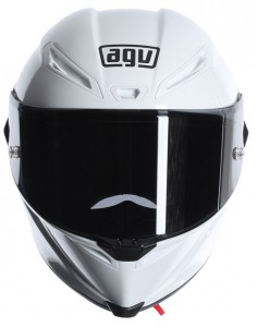 AGV Corsa crash helmet white front view