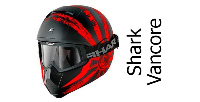 shark vancore crash helmet