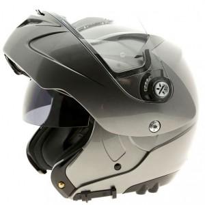 Lazer Paname Z-line crash helmet titanium open view