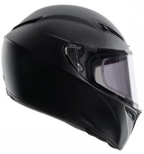 AGV-GT-Veloce-matt-black-side-view-crash-helmet