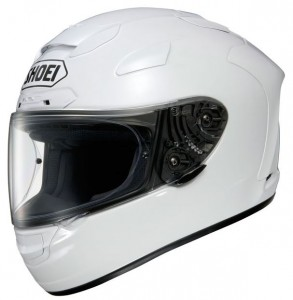 Shoei X Spirit II gloss white crash helmet