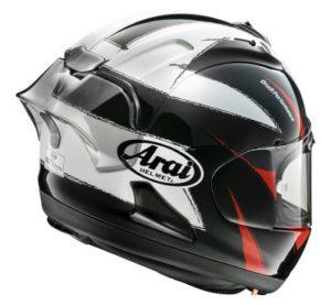 Arai RX-7V Race Sign graphic FIM certified racing helmet side view