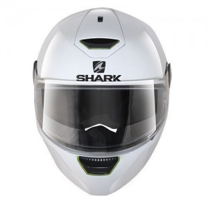 Shark skwal blank white helmet front view