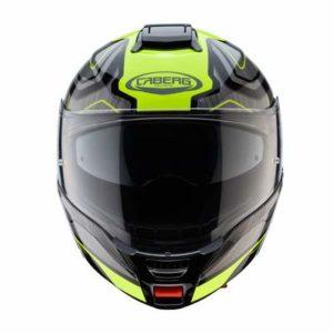 Caberg Levo flow high viz modular helmet front view