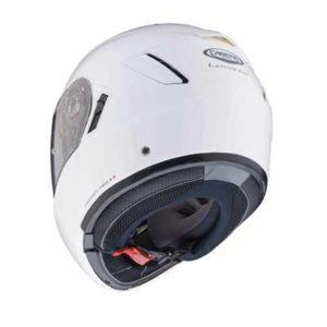 Caberg-Levo-gloss-white-modular-helmet-rear-view