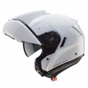 Caberg Levo gloss white modular helmet side view