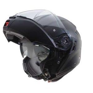 Caberg-Levo-matt-black-modular-helmet-chin-bar-up