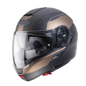 Caberg-Levo-prospect-black-bronze-flip-up-helmet-side-view