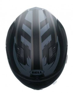 Bell-Qualifier-DLX-crash-helmet-impulse-black-top-view