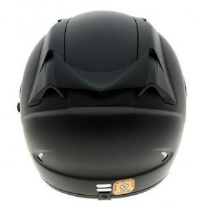Scorpion Exo 1200 Air crash helmet matt black rear