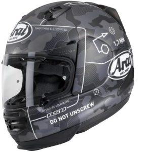 Arai Rebel command black crash helmet