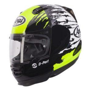 Arai Rebel splash green crash helmet