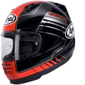 Arai Rebel street black red crash helmet