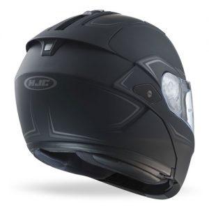 HJC-Sy-Max-III-modular-crash-helmet-shadow-matt-black-rear-view