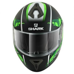 Shark-S600-Exit-black-green-crash-helmet-front