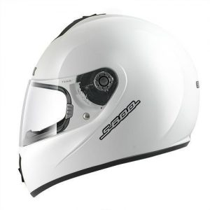 Shark-S600-solid-gloss-white-crash-helmet-side