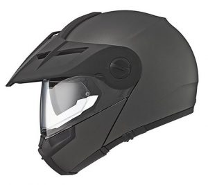 schuberth e1 flip front helmet antracite side view