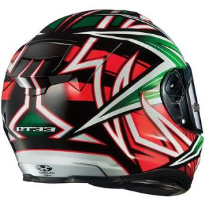 kabuto-RT-33-crash-helmet-veloce-green-orange-rear-view