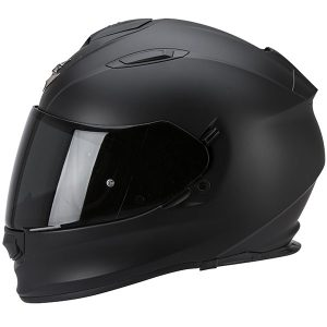 scorpion exo 510 air crash helmet matt black side view