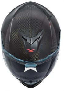 Nexx XT1 carbon zero motorcycle helmet top down view