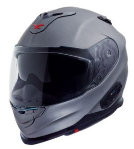 Nexx XT1 plain titanium graphite crash helmet front side view