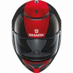 Shark Spartan carbon skin DRR motorcycle helmet front view