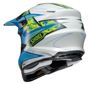 Shoei vfx-w motocross crash helmet rear view turmoil
