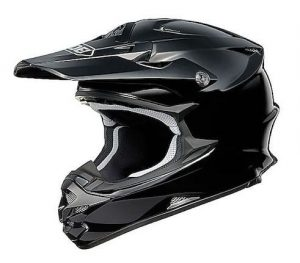 Shoei vfx-w motocross crash helmet side view gloss black