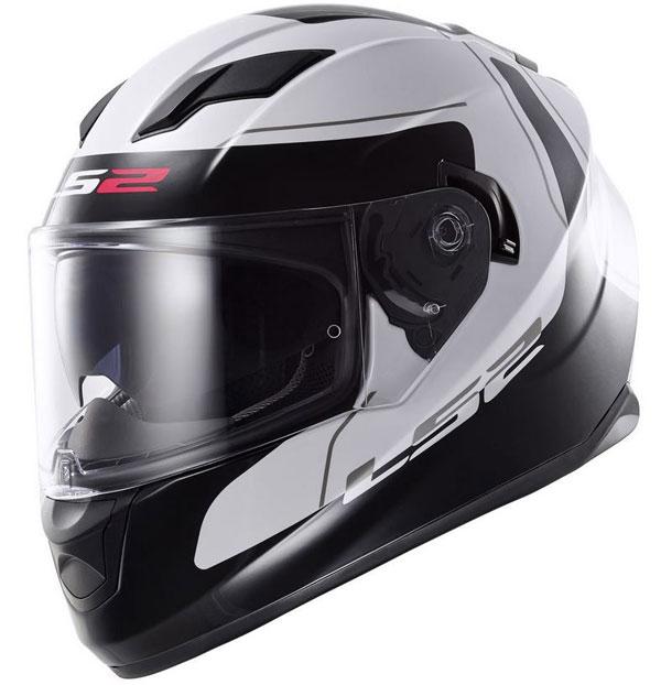 LS2 FF320 Stream Motorcycle Bike Crash Helmet Pinlock Sunvisor White Pink